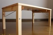 パイン材ローテーブル 完成